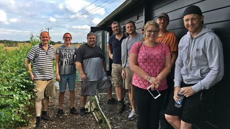 The UK Power Networks team at Suffolk Prickles hedgehog sanctuary Picture: UK POWER NETWORKS