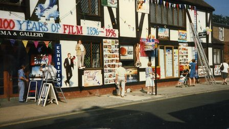 Aldeburgh Cinema celebrates its centenary this year but is pictured in 1996 decked out for that year