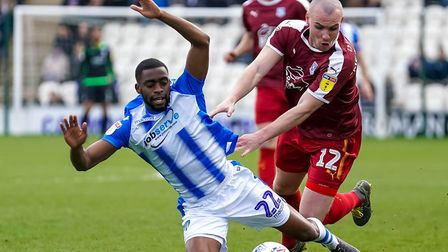 Kane Vincent-Young, in action for Colchester United, for whom he played 126 games. Picture: STEVE WA