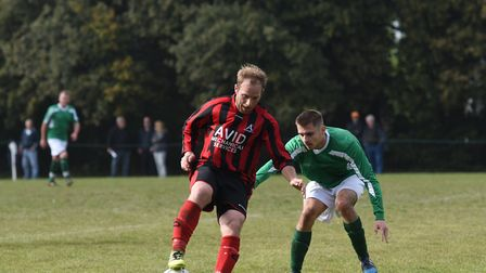 Sean Hanley notched a brace for Achilles in their season-opening 4-1 win over Westerfield. Picture: