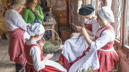 Visitors can watch more than 200 Tudor re-enactors Photo: PAUL SILLENCE