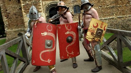 Watch out, watch out, theres a gladiator about. Members from the Britannia re-enactment society inva