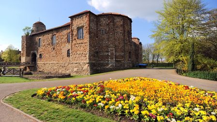 Colchester castle basks in the summer sun waiting for the invading armies to arrive for their Histor