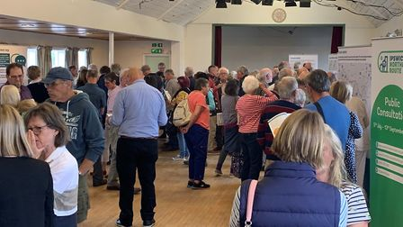 The consultation event at Grundisburgh where people heard different justifications for the northern