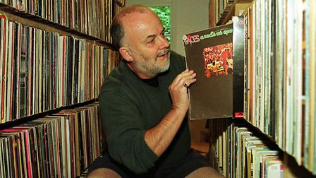 John Peel amassed a collection of thousands of vinyl records Picture: CLIFFORD HICKS