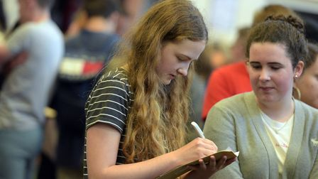 Students at Northgate High School collect their A-Level results Picture: SARAH LUCY BROWN