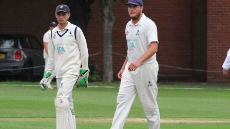 Sudbury skipper Adam Mansfield, left, and Frinton captain Michael Comber, who are both hoping to lea