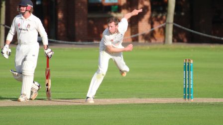 James Poulson, who took four wickets in Sudbury's big victory over Saffron Walden. Picture: NICK GAR