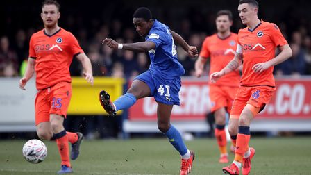 Michael Folivi has returned to AFC Wimbledon on loan from Watford. Photo: PA