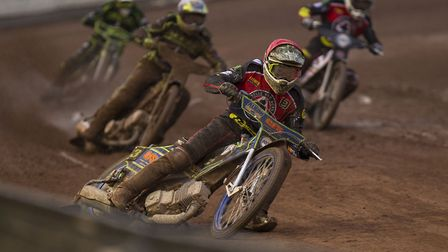 Aces man Kenneth Bjerre in action at Belle Vue agains the Witches Photo: TAYLOR LANNING