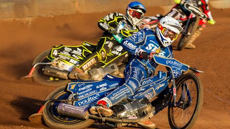 Robert Lambert in action for the King's Lynn Stars at Poole Picture:Taylor Lanning