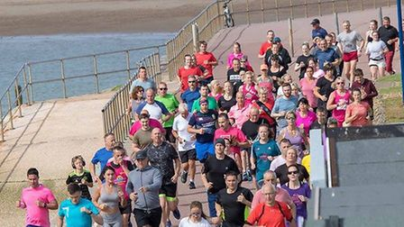 Down on the promenade for the Clacton Seafront parkrun. Picture: CLACTON PARKRUN FACEBOOK