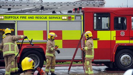 Firefighters were called to a false alarm in Lakenheath on Friday Picture: PHIL MORLEY