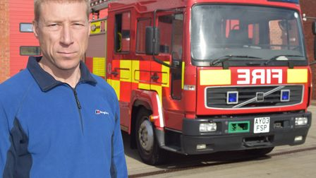 Phil Johnston, chairman of the Fire Brigades Union (FBU) Suffolk branch. Picture: ANDREW PAPWORTH