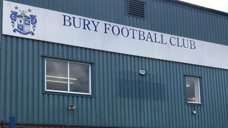 The back of the main stand at Bury FC's Gigg Lane. The club has been expelled from the EFL, Ipswich