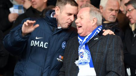 Peterborough United chairman Darragh MacAnthony (left) and director of football Barry Fry have had a