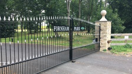 The gates of Fornham Park were closed during a recent visit Picture: ANDREW HIRST