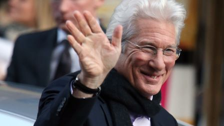 Richard Gere attending the UK premiere of his movie, Time Out of Mind, at the Glasgow Film Theatre,
