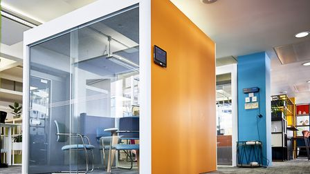 Workplace hub designs by Frem Group Screens at Clerkenwell Design Week. Picture: PHIL DINGLEY