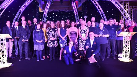 The winners from 2018's Stars of Suffolk awards take a bow Picture: SONYA DUNCAN