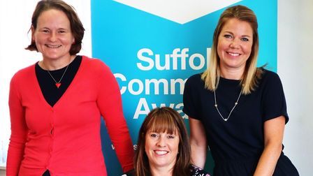Frances Bedding, Laura Butters and Sally Connick. Photo: Community Action Suffolk.