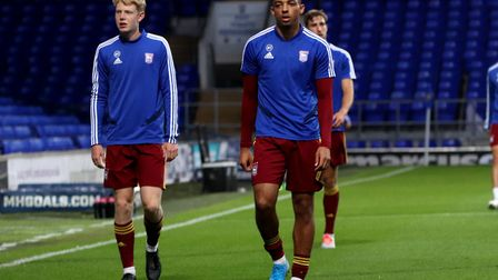 Ben Folami back in action for Town U23s against Nottingham Forest at Portman Road Picture: ROSS HALL