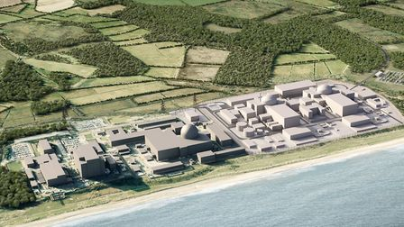 A computer-generated image of Sizewell C Picture: EDF