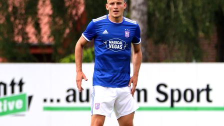 Luke Woolfenden pictured during the pre-season friendly against Paderborn Picture: ROSS HALLS