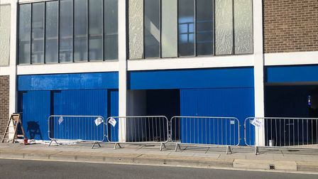 Portman Road is getting a new lick of paint for the first time in seven years Picture: ROSS HALLS