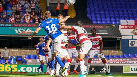 Alan Judge looks to be pushed off the ball in the area by Reece James early in the game. Picture: