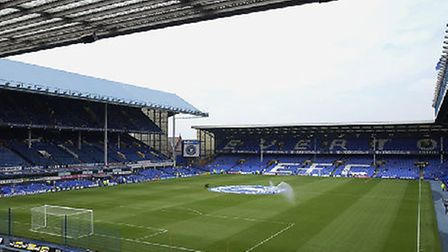 Goodison Park, the home of Everton FC