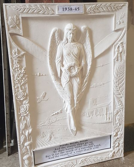 The memorial by Sean Hedges-Quinn cast in plaster Picture: SEAN HEDGES-QUINN
