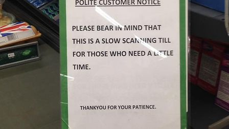 """The """"slow scanning till"""" which has been launched at Morrisons in Hadleigh. Picture: SARAH WESTON"""