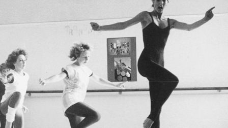 Scilla Dyke working with youngsters at Suffolk Dance in 1984
