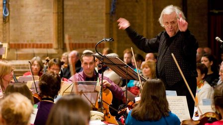 Chris Green conducting Trianon. at a 2009 concert Photo: Geoff Rogers