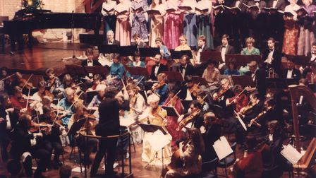 A Christmas concert at the Ipswich Corn Exchange in 1987 Photo: Trianon