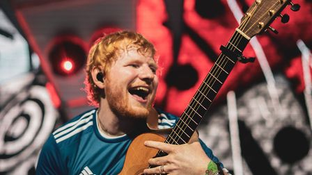 Ed Sheeran performing on the second night at Chantry Park last month. Picture: Zakary Walters