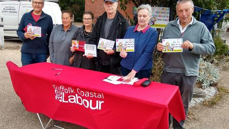 """People at Saxmundham taking part in a day of action to """"Save Suffolk�s Children�'s Centres"""" Picture:"""