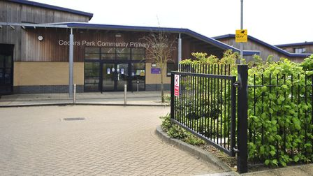 Cedars Park Primary School in Stowmarket has been forced to close today. Picture: LUCY TAYLOR