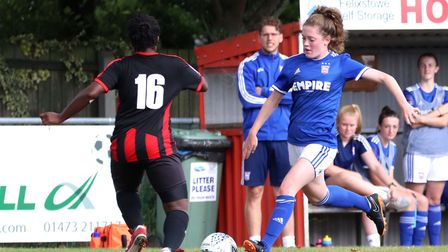 Blue Wilson in action during the 3-2 win over Actonians at the Goldstar Ground Picture: ROSS HALLS