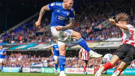 Leading scorer James Norwood is one of a number of Ipswich Town players with a 68 rating in FIFA 20.