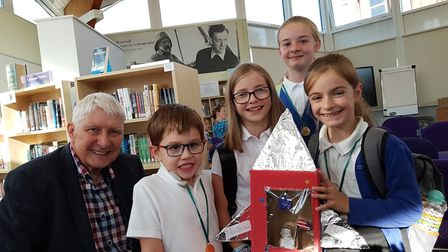 Nick Butterworth and some of the Aldeburgh youngsters who completed this year's challenge Picture: R