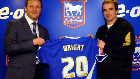 Wright left Portman Road in 2010 after originally being signed by Jim Magilton in January 2007. Pi