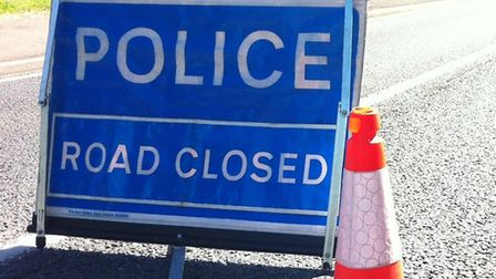 Abbey Road in Leiston is blocked due to a crash Picture: TOM POTTER