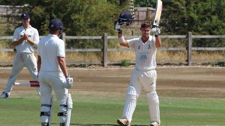Kyran Young, who made a patient 47 to hold Frinton's innings together in their 103-run victory at Mi