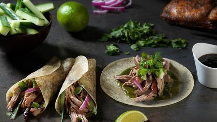 Northgate Foods' Indian aromatic duck cha-pancake, or chapati-Pancake Picture: KEITH SUFFLING