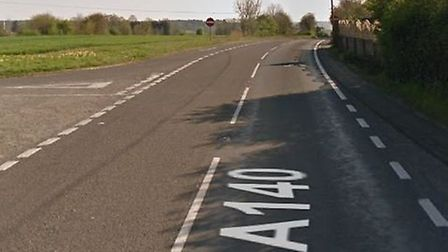 A stretch of the A140, the major road between Ipswich and Norwich, will be closed this weekend Pictu
