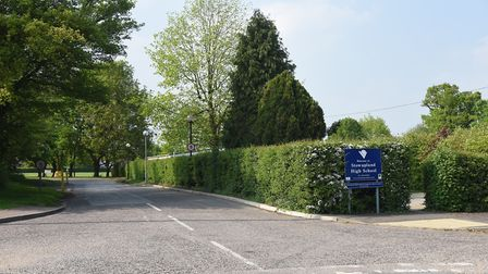 Stowupland High School's plans for a new sixth form block are recommended for approval. Picture: SAR