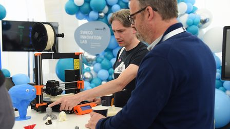 A 3D printer stand at the Innovate East. Picture: DENISE BRADLEY