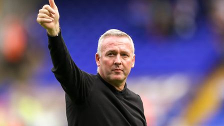 Paul Lambert is in the running for the August manager of the month award. Picture: STEVE WALLER